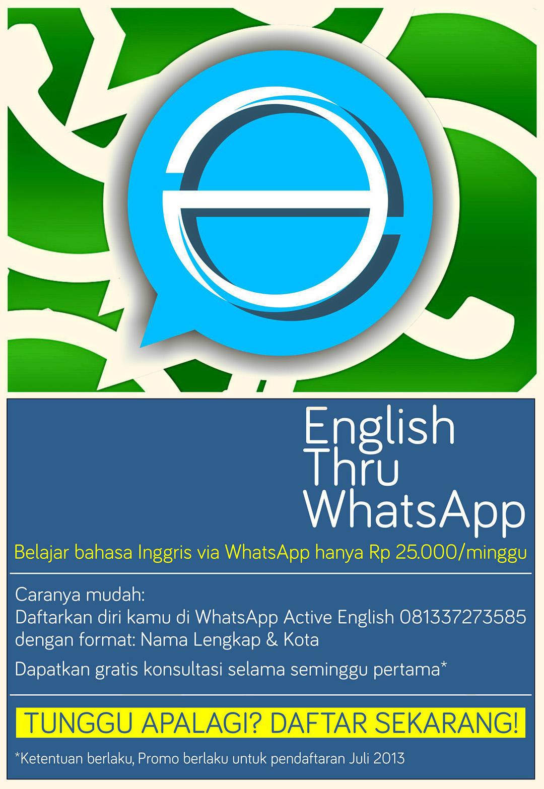 English thru WhatsApp: belajar bahasa Inggris lewat WhatsApp